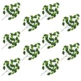 vidaXL Hojas artificiales de ginkgo biloba 10 unidades verde 65 cm