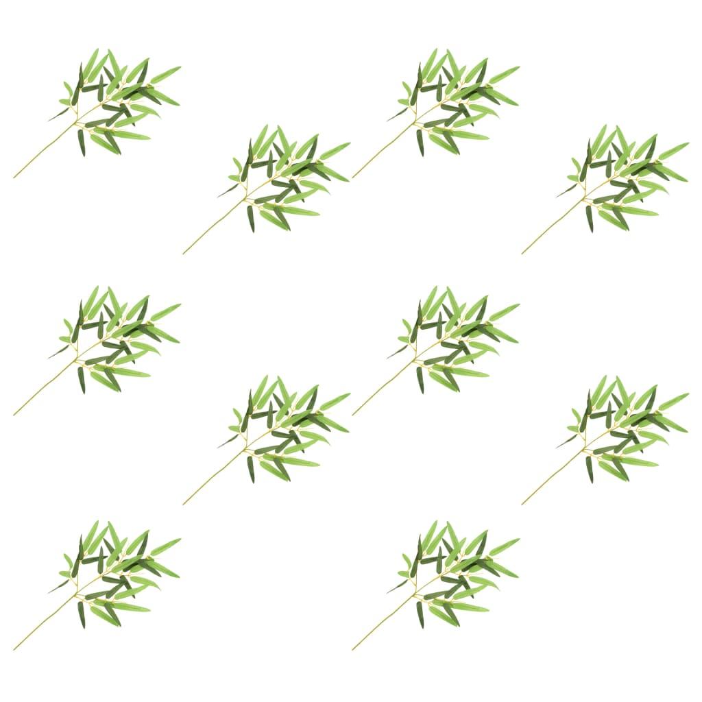 Umělé listy bambus 10 ks zelené 60 cm