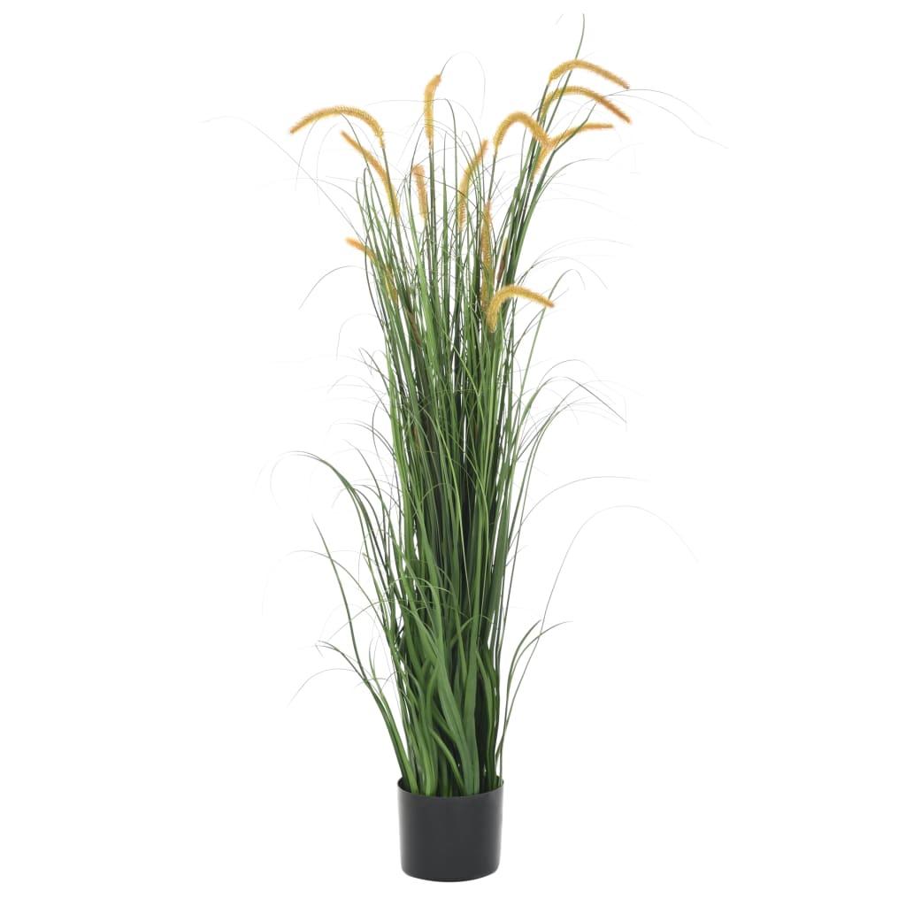vidaXL Plantă iarbă artificială în ghiveci cu papură, 160 cm vidaxl.ro