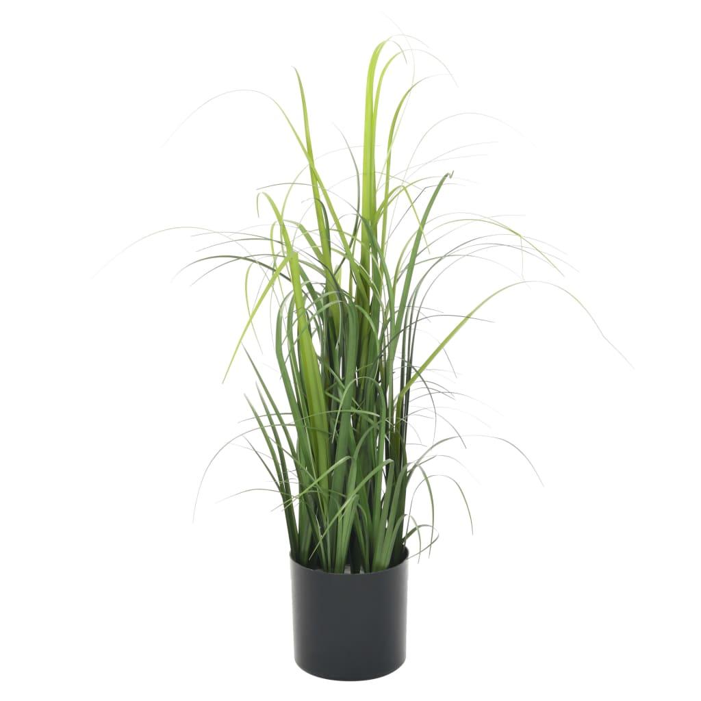 vidaXL Plantă iarbă artificială în ghiveci, verde, 55 cm vidaxl.ro