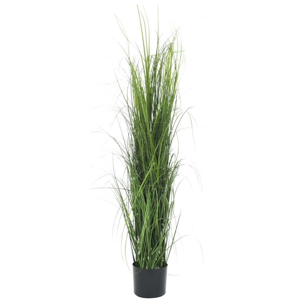 vidaXL Plantă iarbă artificială în ghiveci, verde, 130 cm poza vidaxl.ro