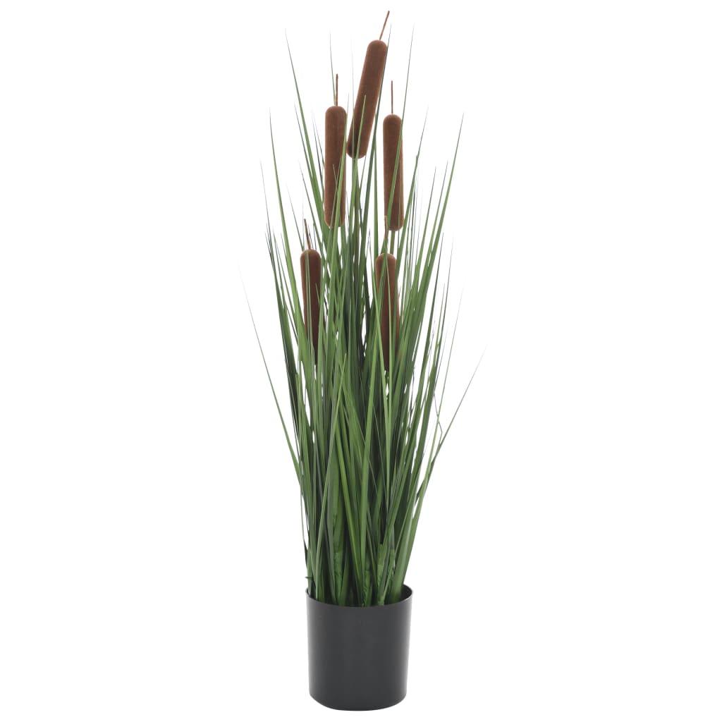vidaXL Plantă iarbă artificială în ghiveci cu papură, 60 cm vidaxl.ro