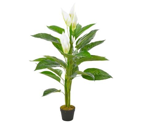 vidaXL fehér, cserepes műflamingóvirág 115 cm