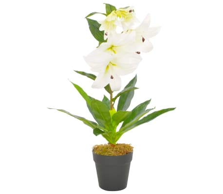 vidaXL fehér, cserepes műliliom 65 cm