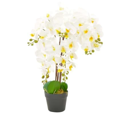 vidaXL cserepes fehér műorchidea 60 cm