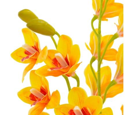 vidaXL Planta artificial orquídea con macetero 90 cm amarilla[2/2]