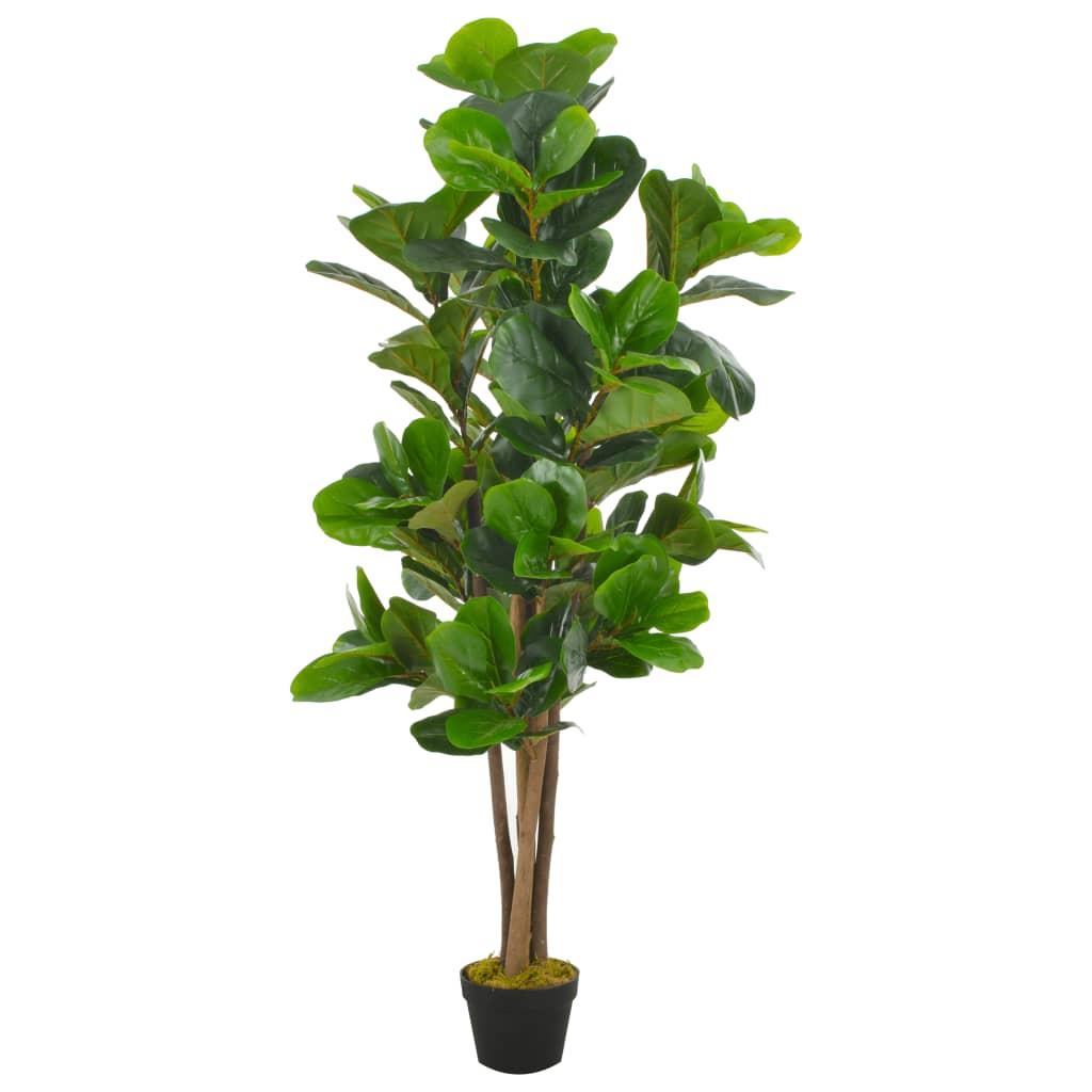 vidaXL Plantă artificială ficus cu ghiveci, verde, 152 cm imagine vidaxl.ro