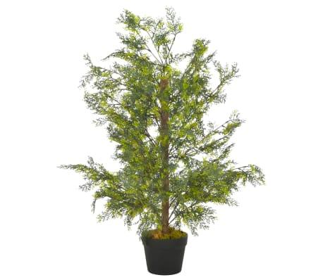 vidaXL Plantă artificială chiparos cu ghiveci, verde, 90 cm