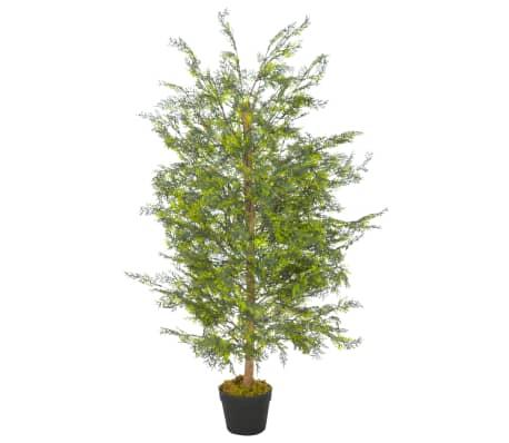 "vidaXL Artificial Plant Cypress Tree with Pot Green 47.2"""