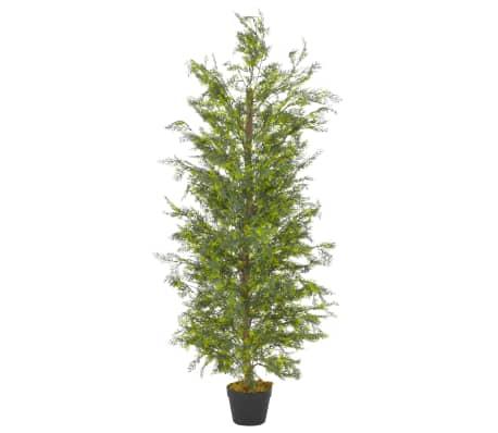 "vidaXL Artificial Plant Cypress Tree with Pot Green 59.1"""