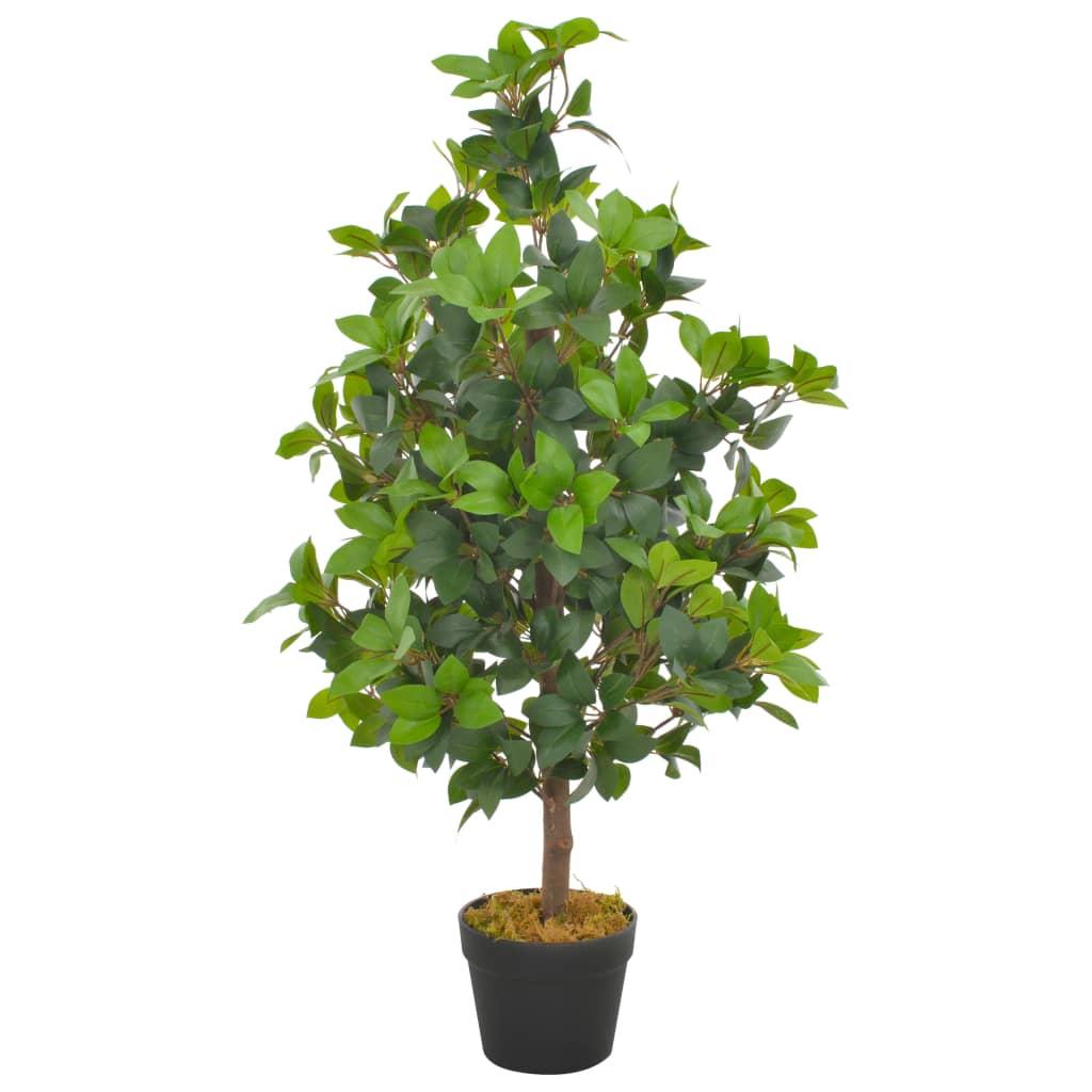 vidaXL Plantă artificială dafin cu ghiveci, verde, 90 cm vidaxl.ro