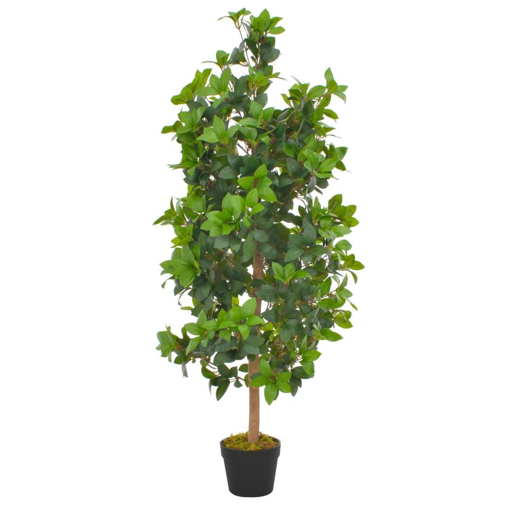 vidaXL Plantă artificială dafin cu ghiveci, verde, 120 cm imagine vidaxl.ro