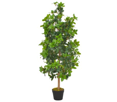 vidaXL zöld, cserepes műbabérfa 120 cm
