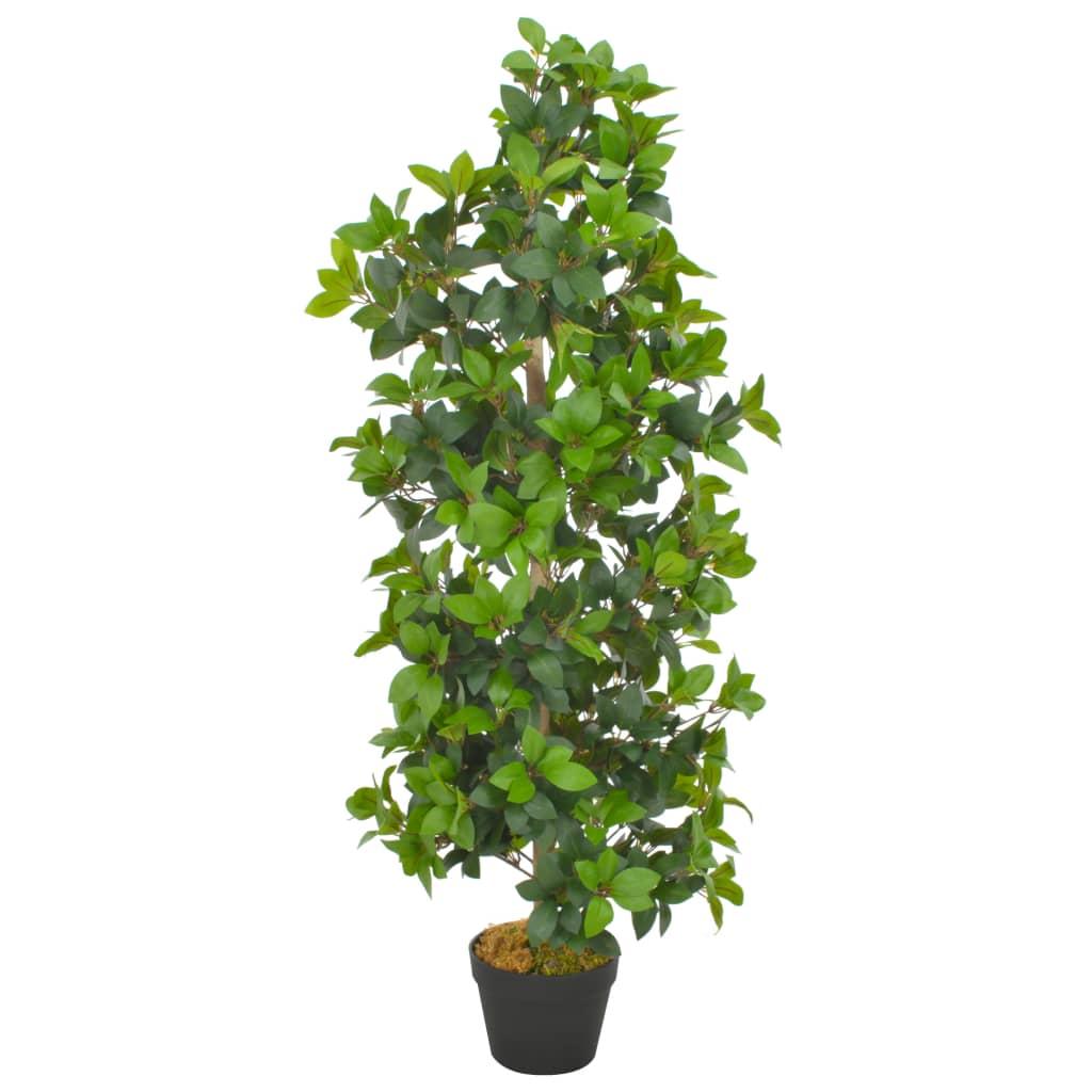 vidaXL Plantă artificială dafin cu ghiveci, verde, 120 cm vidaxl.ro