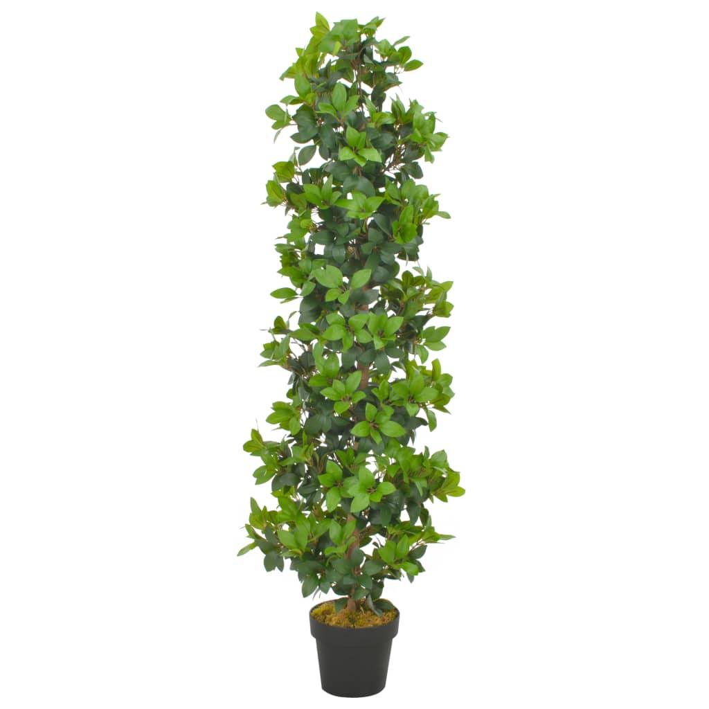 vidaXL Plantă artificială dafin cu ghiveci, verde, 150 cm poza 2021 vidaXL