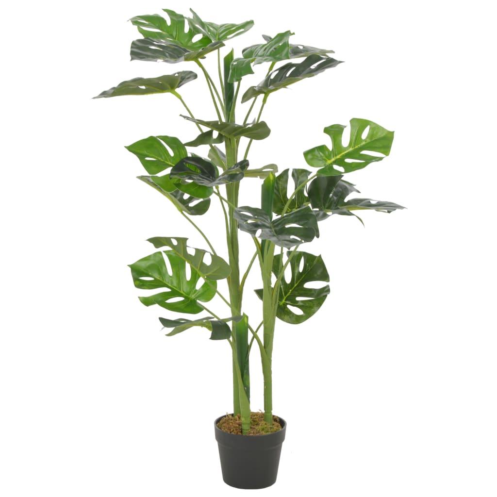 vidaXL Plantă artificială Monstera cu ghiveci, verde, 100 cm imagine vidaxl.ro