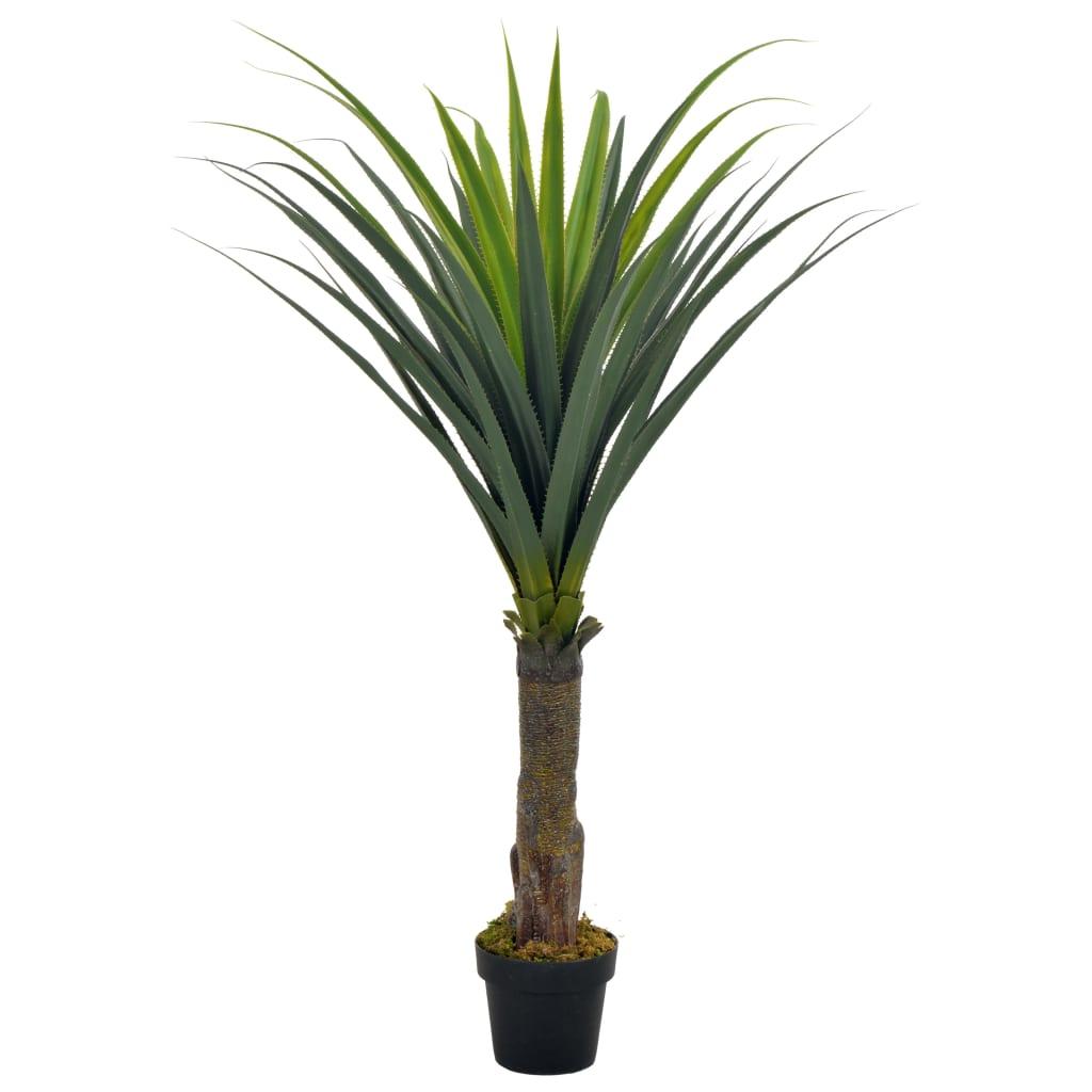 vidaXL Plantă artificială cu ghiveci, yucca, verde, 145 cm imagine vidaxl.ro