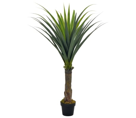 vidaXL Artificial Plant Yucca Tree with Pot Green 145 cm