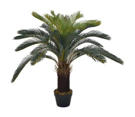 vidaXL Künstliche Pflanze Cycas-Palme mit Topf Grün 90 cm
