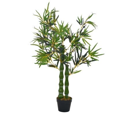 vidaXL Kunstplant met pot bamboe 110 cm groen