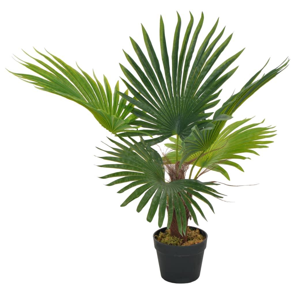 vidaXL Plantă artificială palmier cu ghiveci, verde, 70 cm poza 2021 vidaXL