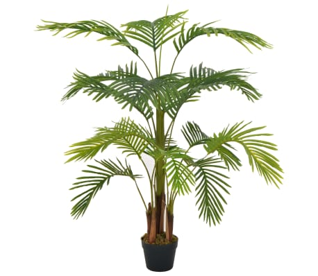 vidaXL Artificial Plant Palm with Pot Green 120 cm