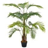 vidaXL Kunstplant met pot palm 120 cm groen