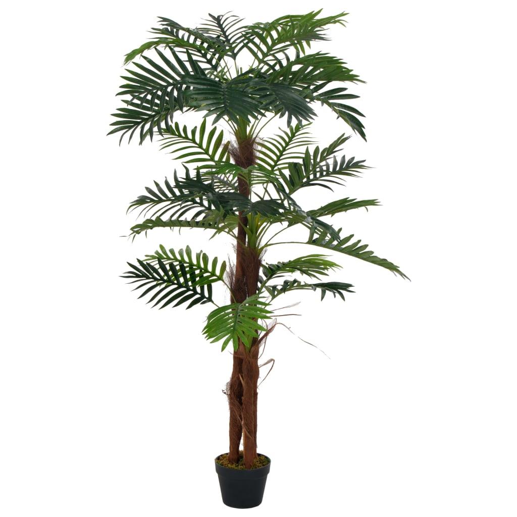 vidaXL Plantă artificială palmier cu ghiveci, verde, 165 cm imagine vidaxl.ro