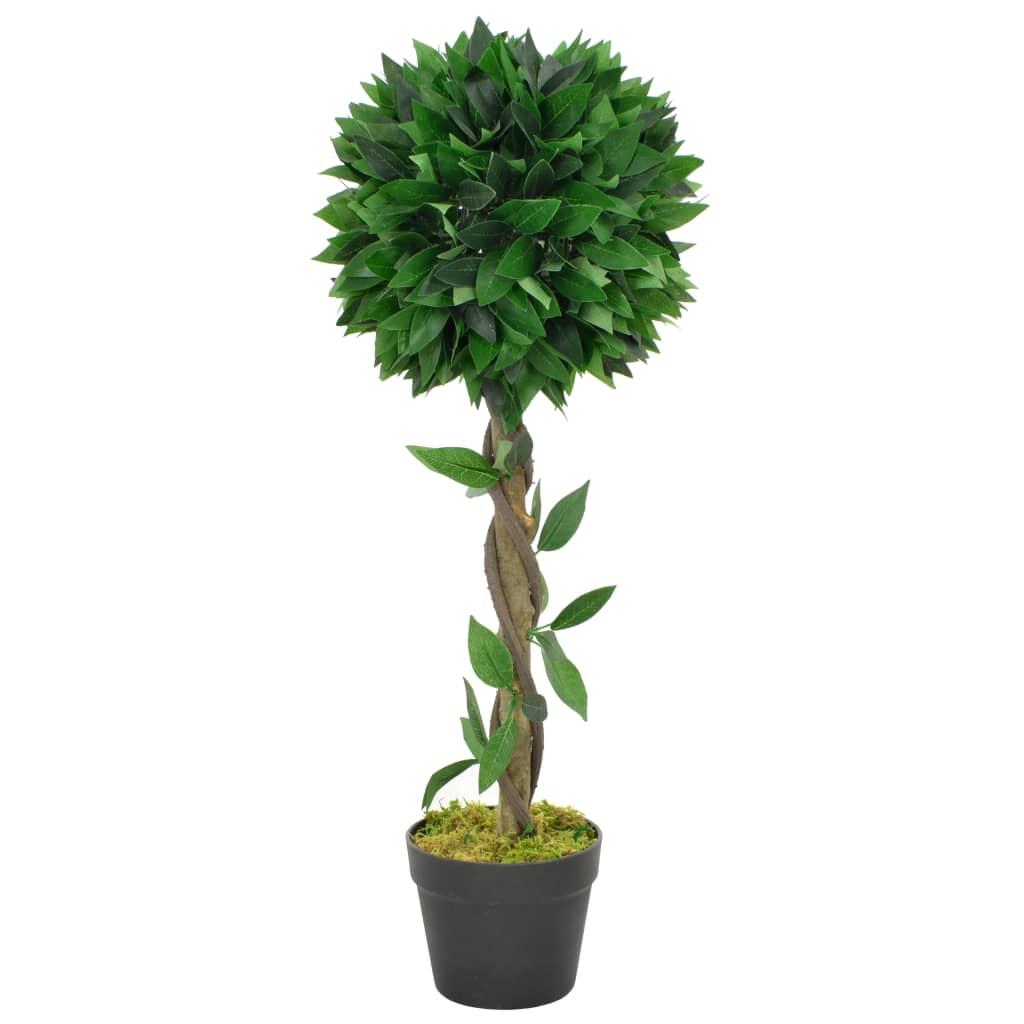 vidaXL Plantă artificială dafin cu ghiveci, verde, 70 cm imagine vidaxl.ro