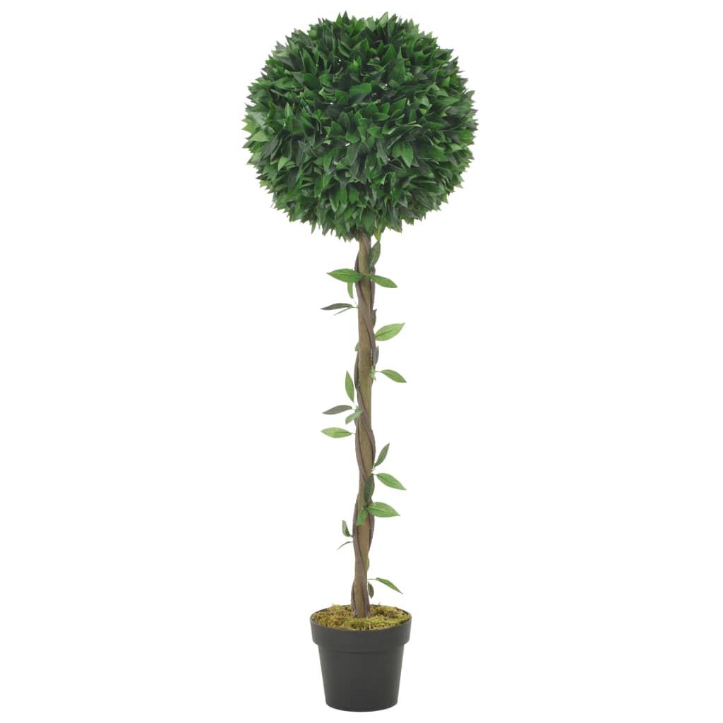 vidaXL Plantă artificială dafin cu ghiveci, verde, 130 cm imagine vidaxl.ro