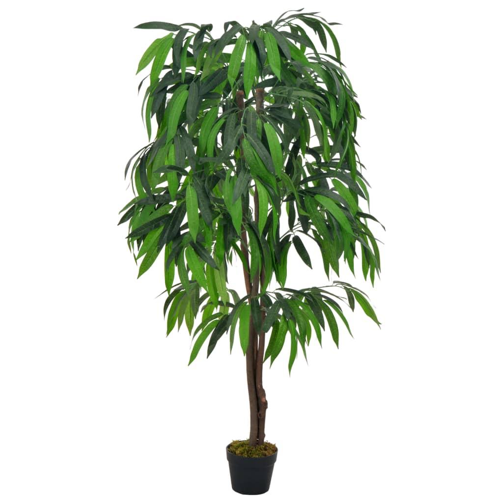 vidaXL Kunstplant met pot mangoboom 140 cm groen
