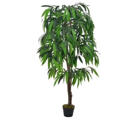 vidaXL Künstliche Pflanze Palme 120cm Kunstpflanze Dekopflanze Topfpflanze