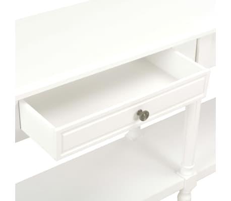vidaXL Komoda, biała, 150x35x77 cm, lite drewno[7/8]