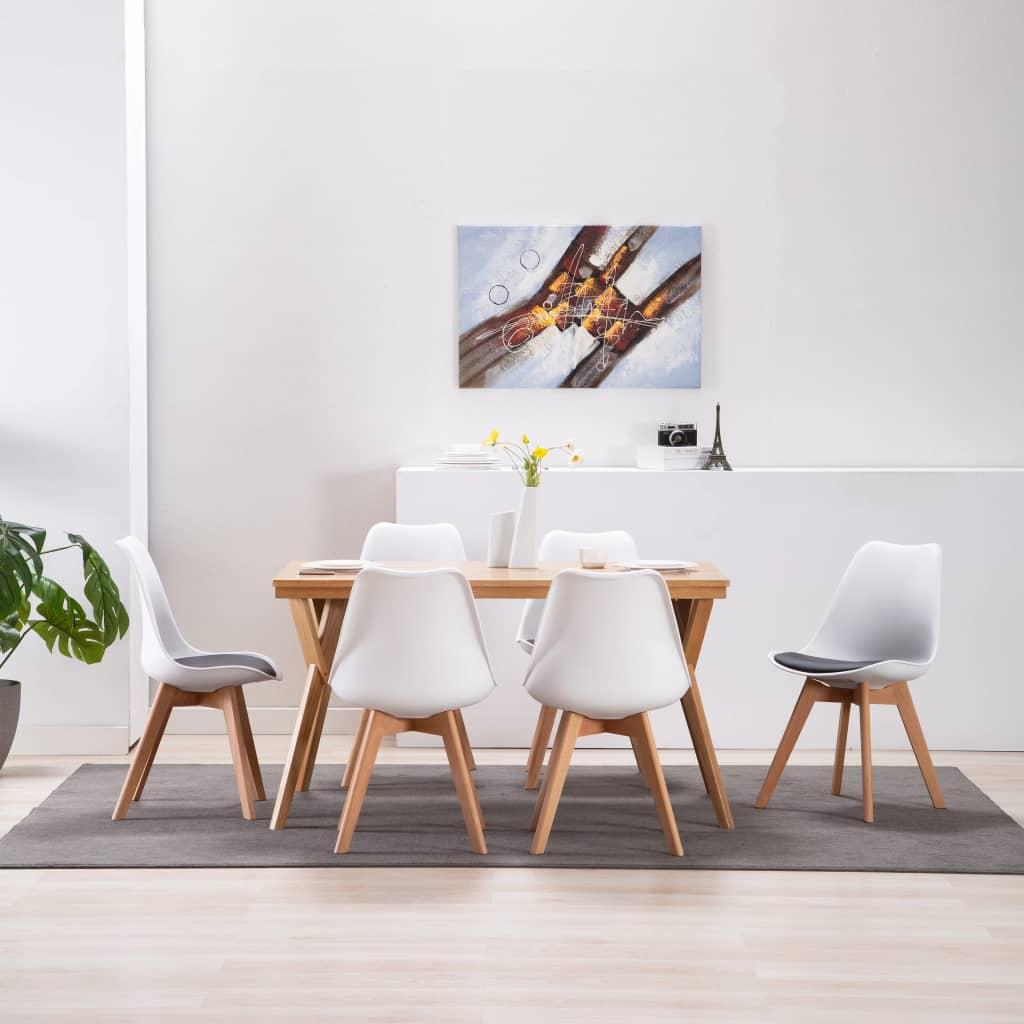 vidaXL Καρέκλες Τραπεζαρίας 6 τεμ. Ασπρόμαυρες