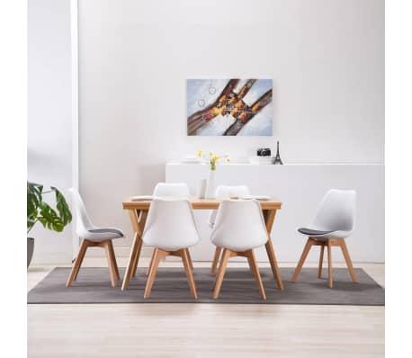 vidaXL Chaises de salle à manger 6 pcs Blanc et noir Similicuir