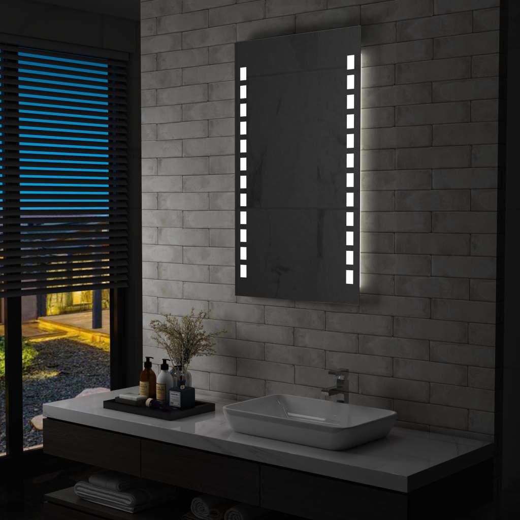 vidaXL Oglindă cu LED de perete de baie, 60 x 100 cm poza vidaxl.ro