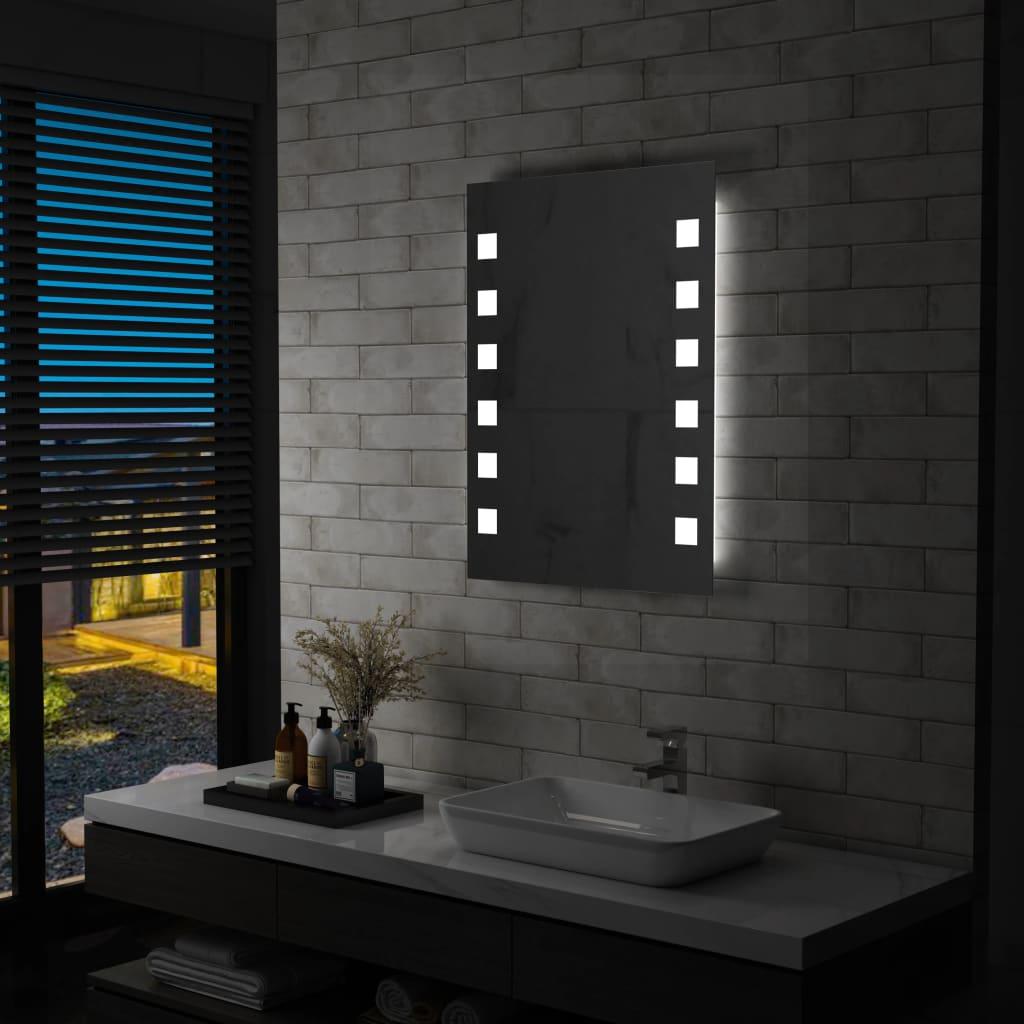 vidaXL Oglindă cu LED de perete pentru baie, 60 x 80 cm poza vidaxl.ro
