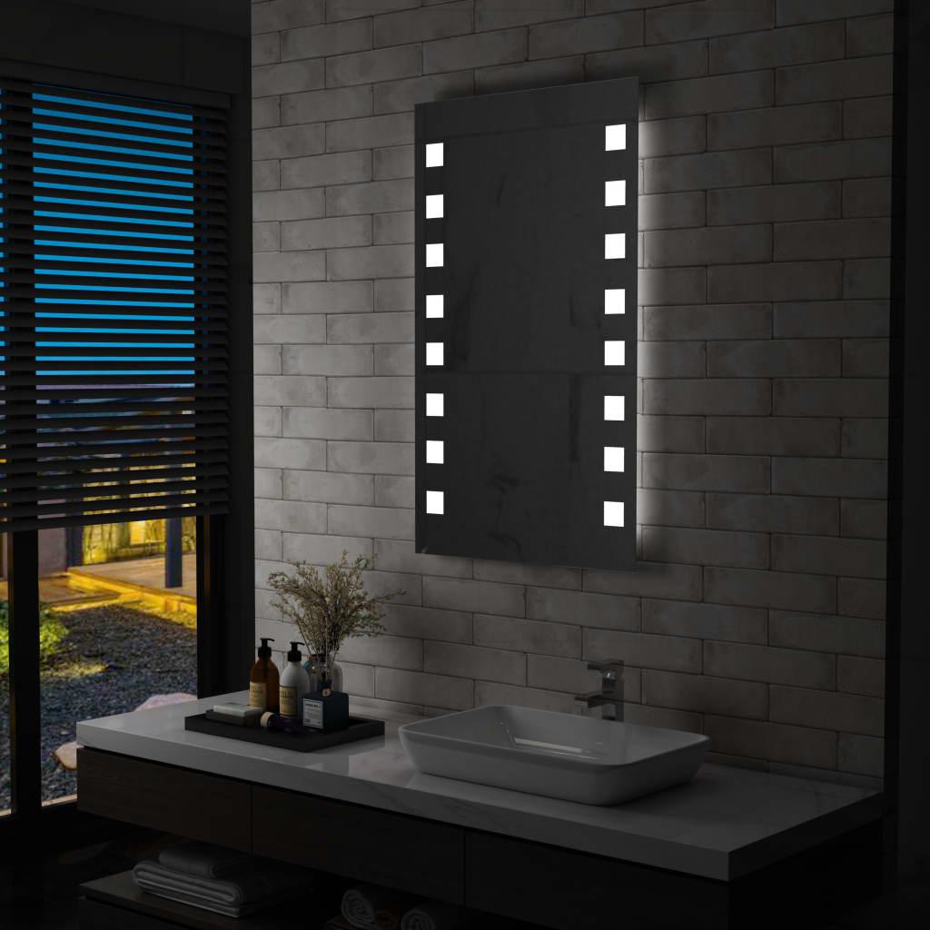 vidaXL Oglindă cu LED de perete de baie, 60 x 100 cm imagine vidaxl.ro
