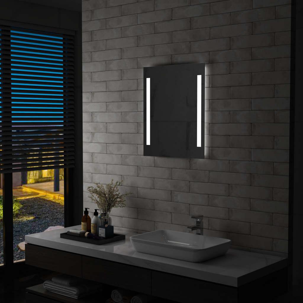 vidaXL Oglindă cu LED de perete de baie, 50 x 60 cm poza vidaxl.ro