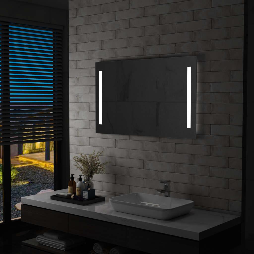 vidaXL Koupelnové nástěnné zrcadlo s LED osvětlením 100 x 60 cm