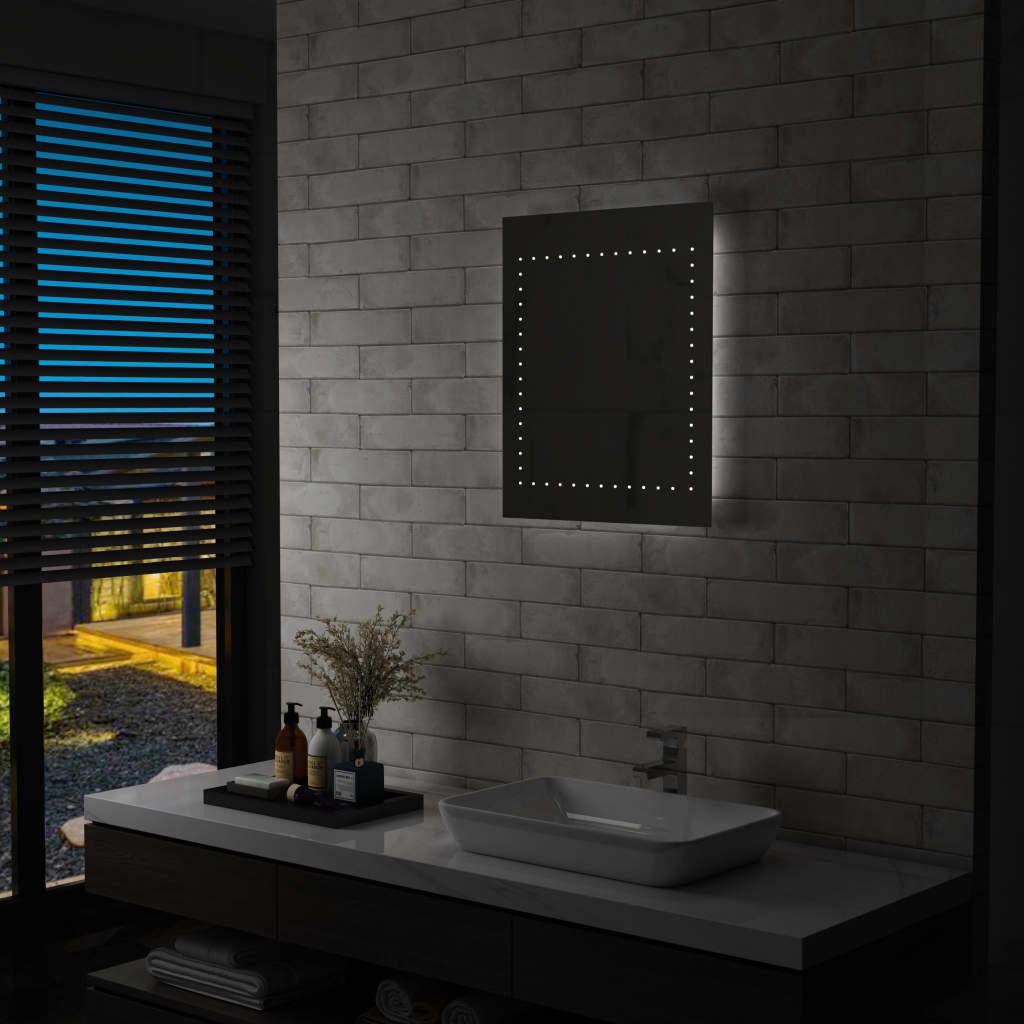 vidaXL Koupelnové nástěnné zrcadlo s LED osvětlením 50 x 60 cm