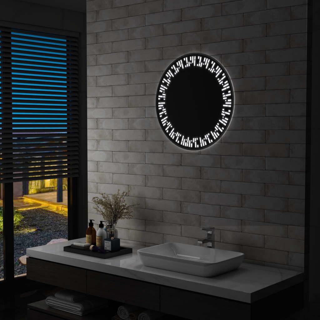 vidaXL Oglindă cu LED de baie, 60 cm imagine vidaxl.ro