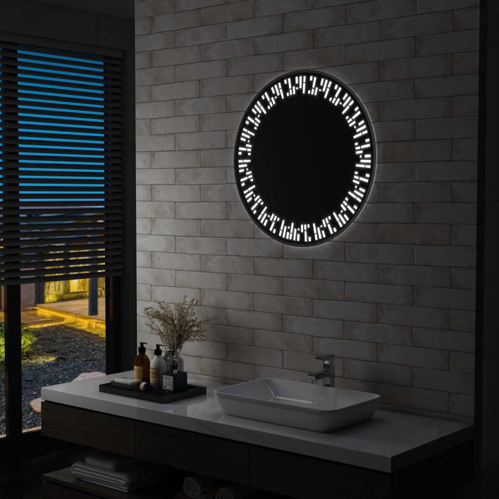 vidaXL Oglindă cu LED de baie, 70 cm imagine vidaxl.ro