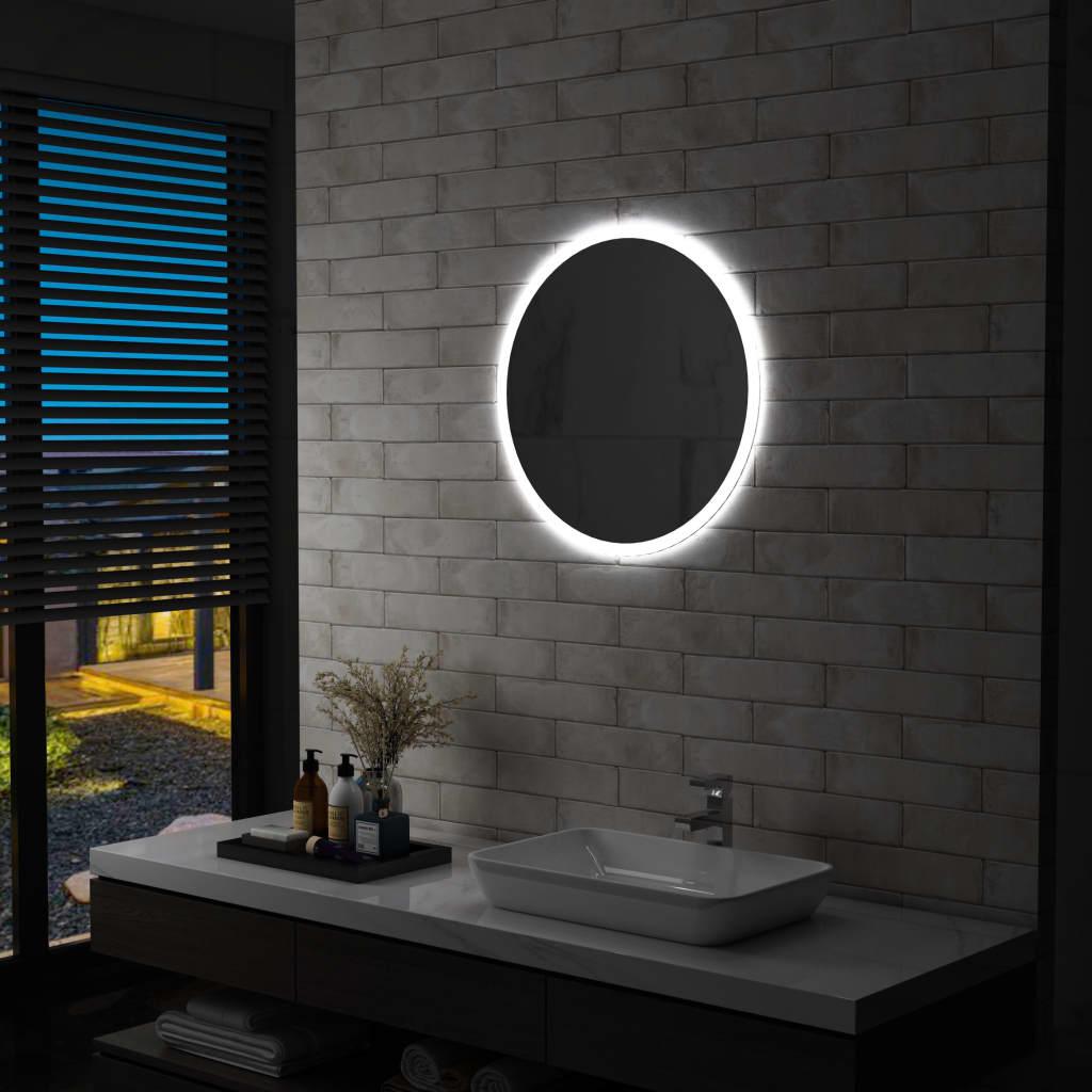 vidaXL Lustro łazienkowe z LED, 60 cm