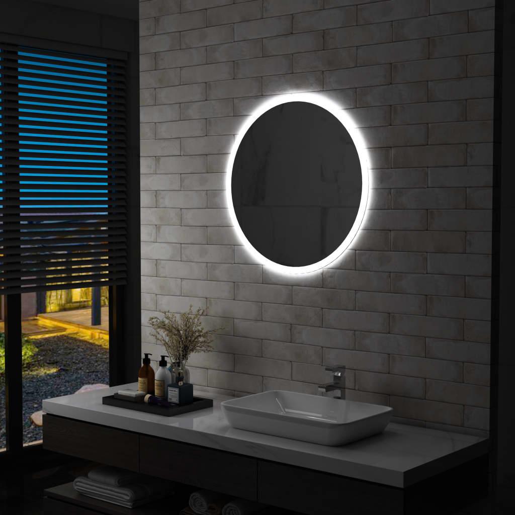 vidaXL Lustro łazienkowe z LED, 70 cm