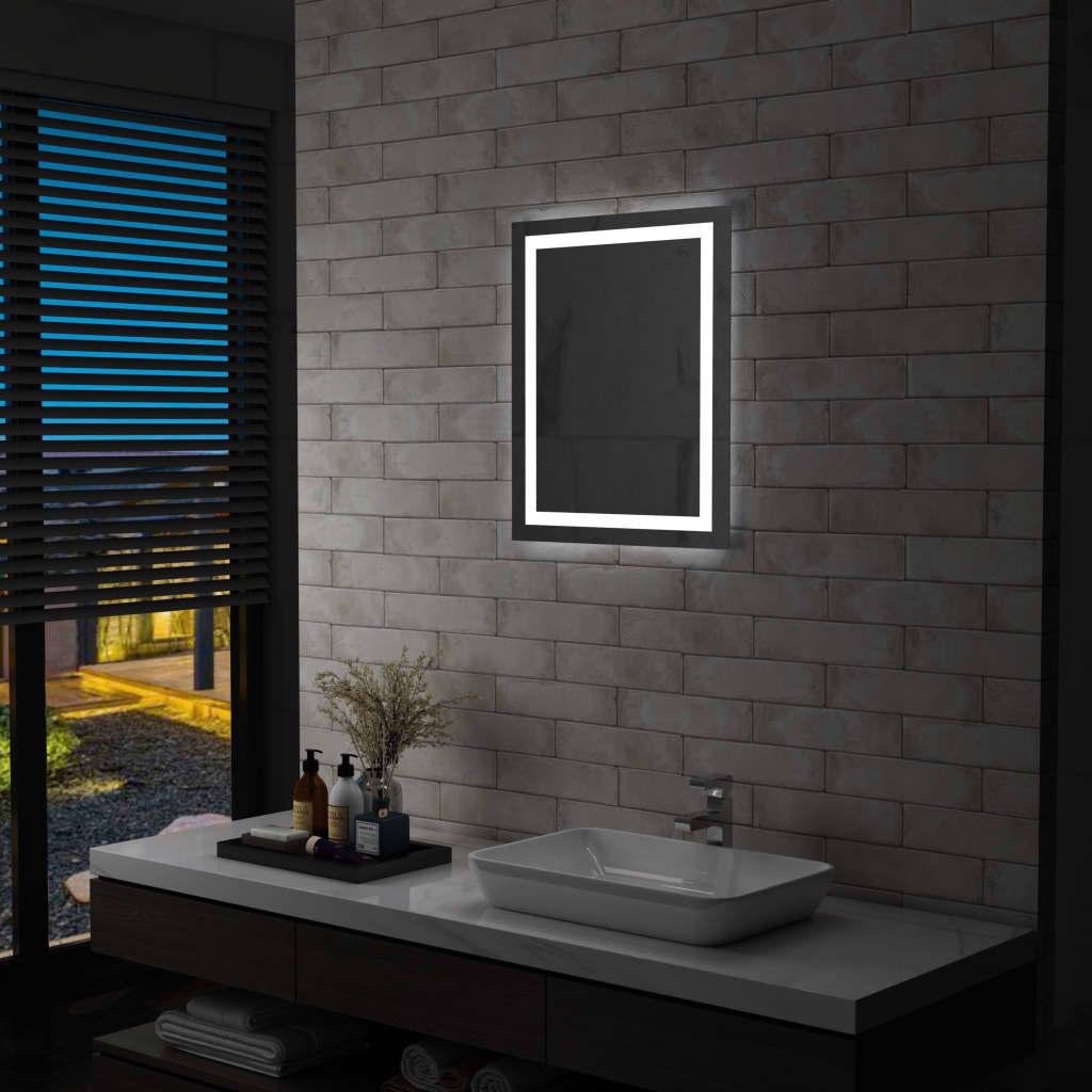 vidaXL Oglindă cu LED de baie cu senzor tactil, 50 x 60 cm imagine vidaxl.ro