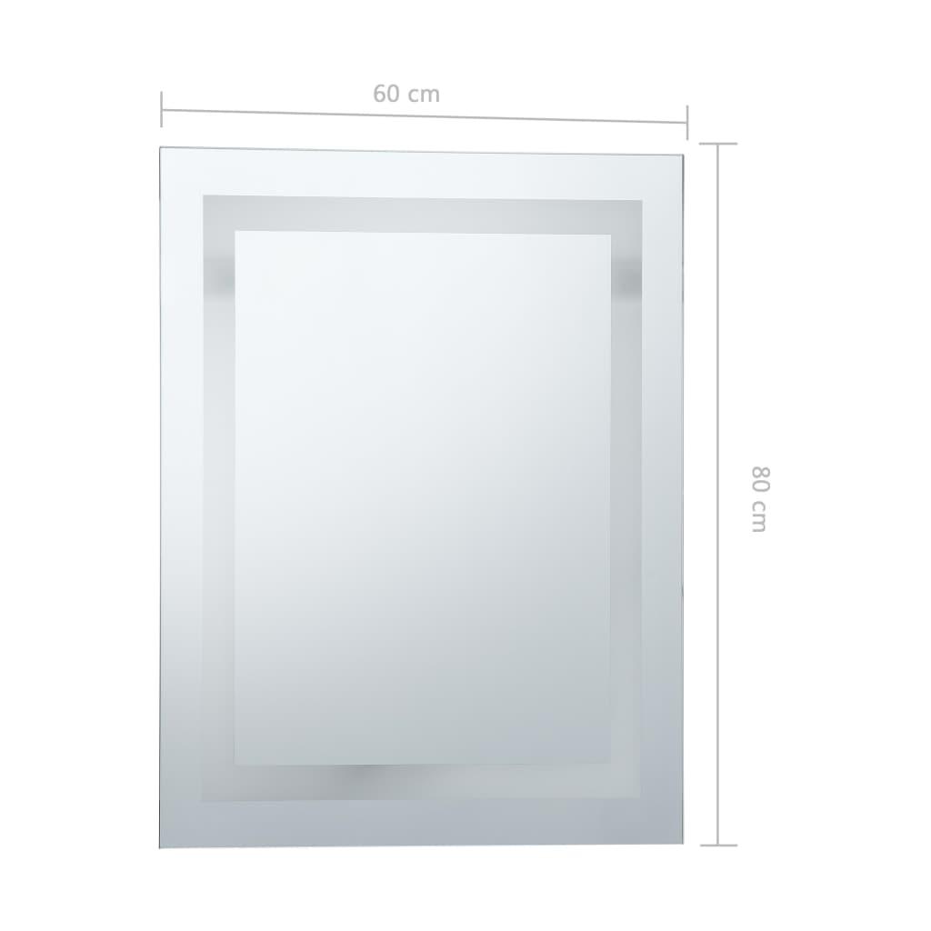 vidaXL Badkamerspiegel LED met aanraaksensor 60x80 cm