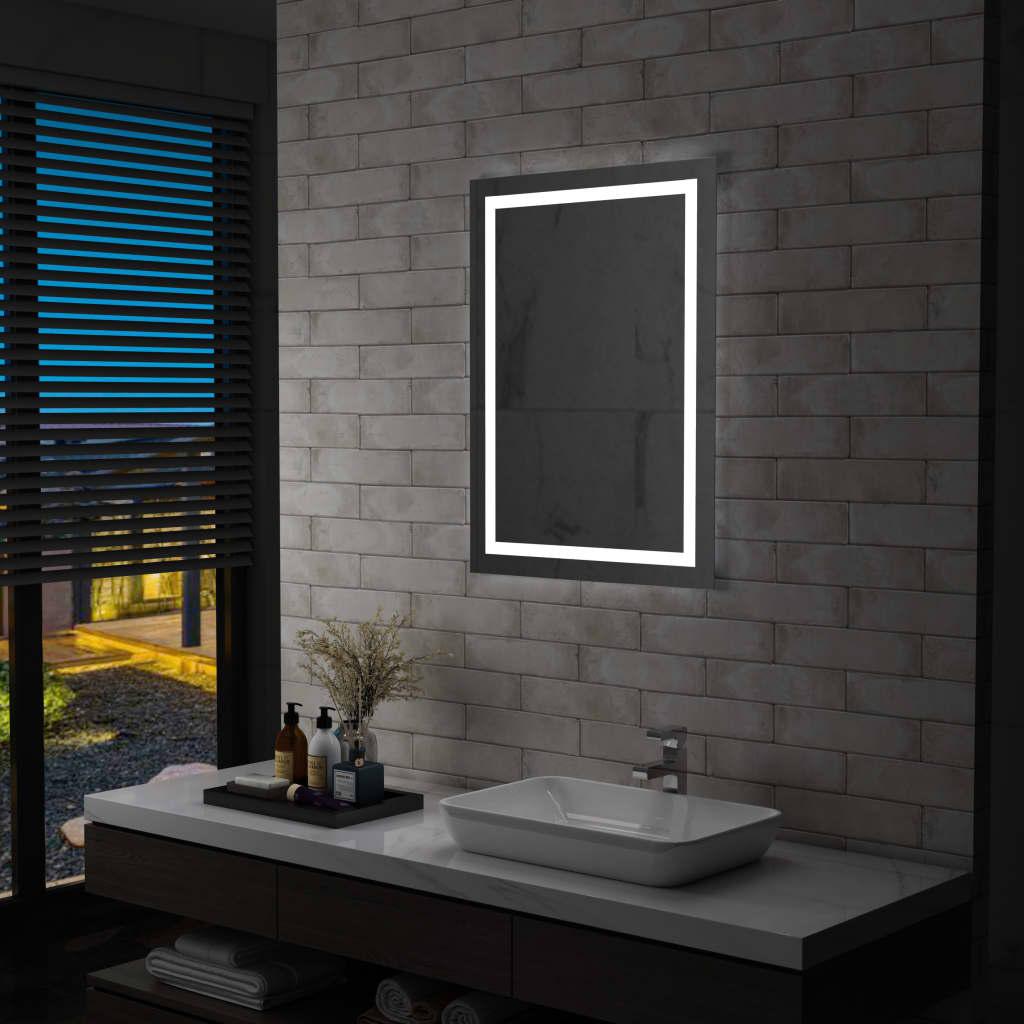 vidaXL Ścienne lustro łazienkowe z LED i czujnikiem dotykowym 60x80 cm