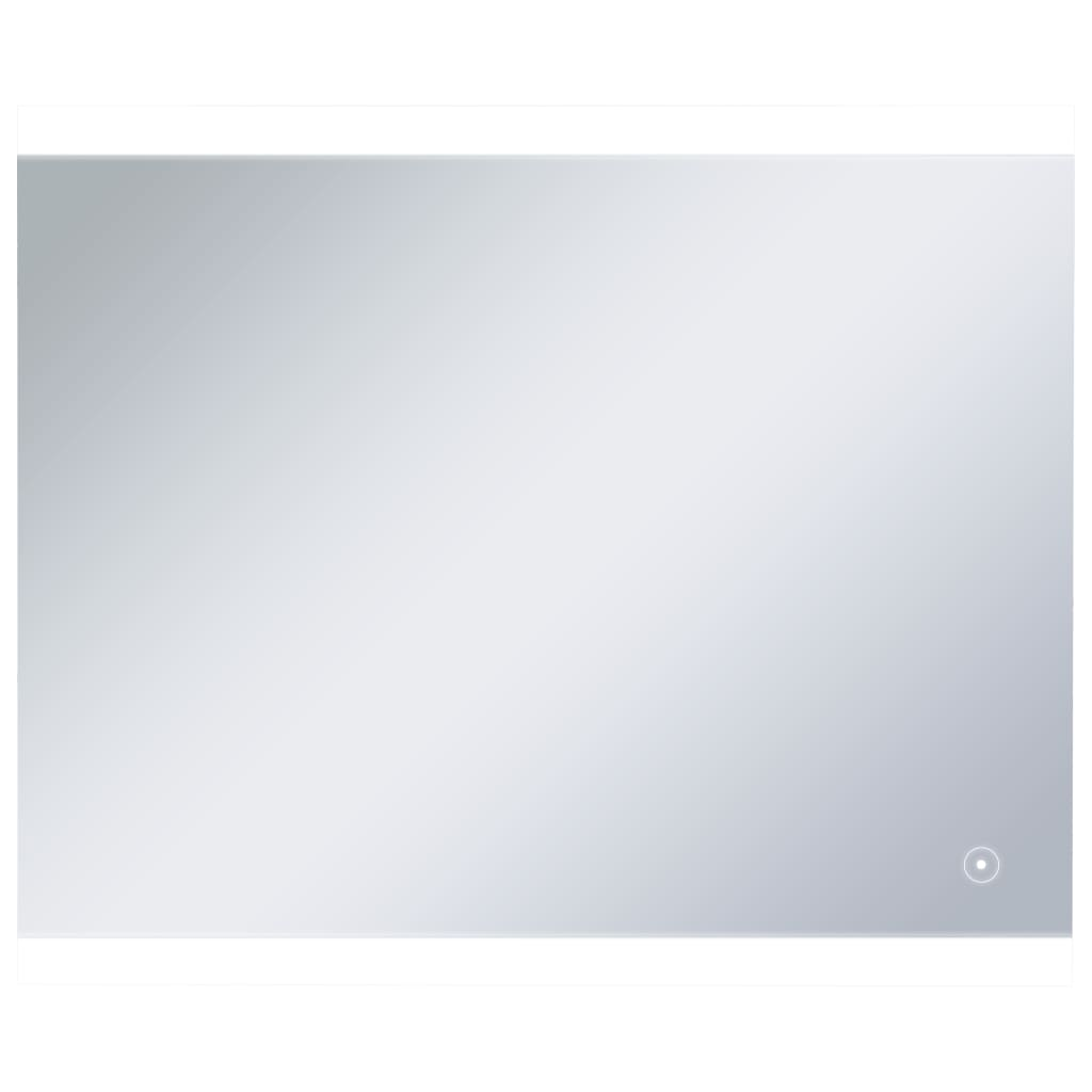 vidaXL Καθρέφτης Μπάνιου Επιτοίχιος με LED & Διακόπτη Αφής 60x50 εκ.