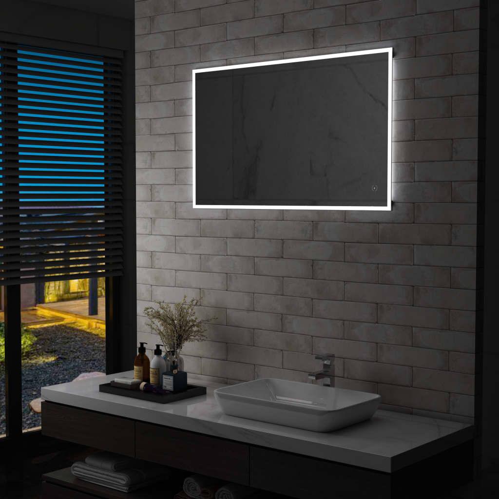 vidaXL Oglindă cu LED de perete de baie cu senzor tactil, 100 x 60 cm imagine vidaxl.ro